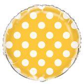 Fóliový balón bodky žlté