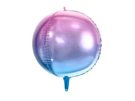 Fóliový balón Guľa Ombré fialovomodrý