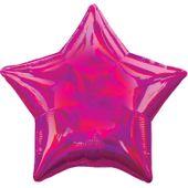 Fóliový balón hviezda holografický tmavoružový