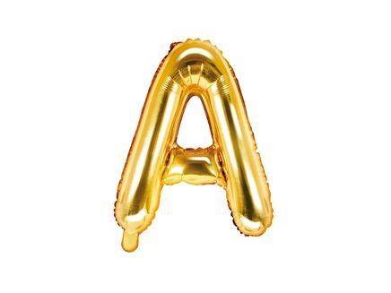 """Fóliový balón Písmeno """"A"""" zlatý"""