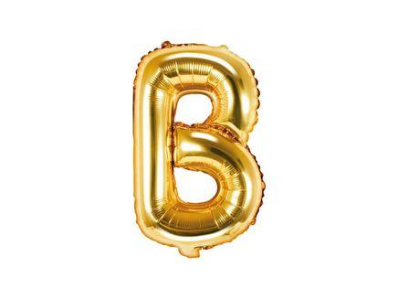 """Fóliový balón Písmeno """"B"""" zlatý"""