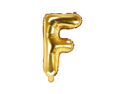 """Fóliový balón Písmeno """"F"""" zlatý"""