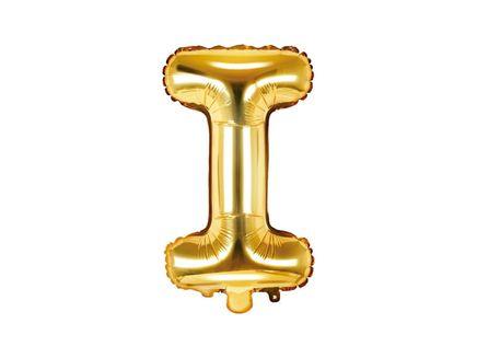 """Fóliový balón Písmeno """"I"""" zlatý"""