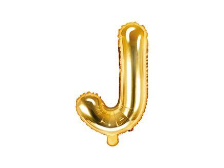 """Fóliový balón Písmeno """"J"""" zlatý"""