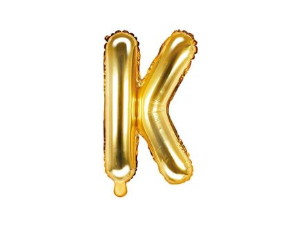 """Fóliový balón Písmeno """"K"""" zlatý"""