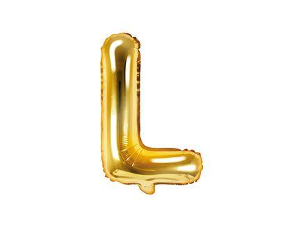 """Fóliový balón Písmeno """"L"""" zlatý"""