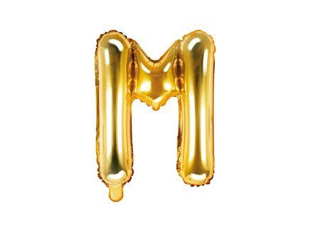 """Fóliový balón Písmeno """"M"""" zlatý"""