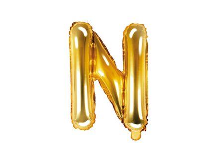 """Fóliový balón Písmeno """"N"""" zlatý"""
