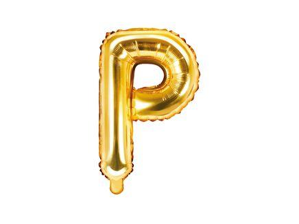 """Fóliový balón Písmeno """"P"""" zlatý"""