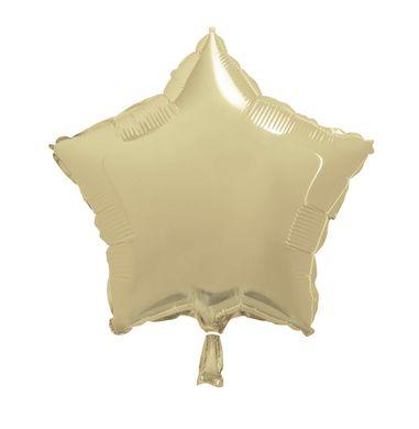 Fóliový balón star zlatý (nebalený)