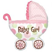 Fóliový balón supershape Kočík Baby Girl