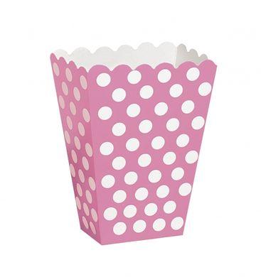 Košíky na drobnosti ružové bodky