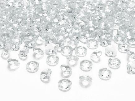 Kryštálové diamanty bezfarebné