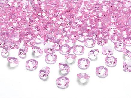 Kryštalové diamanty svetloružové