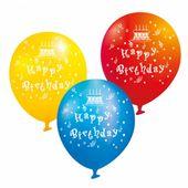 Balóny Happy Birthday mix 6 ks