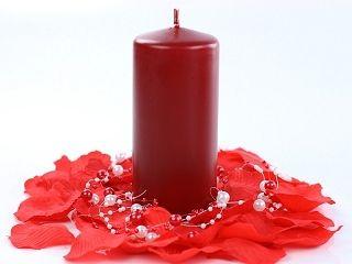 Metalická sviečka- bordová