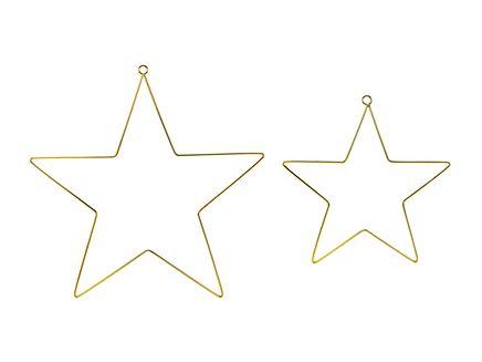 Metalické visiace dekorácie Hviezdy