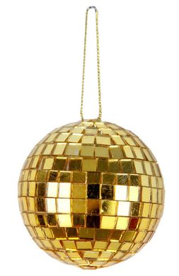 Mini disco guľa zlatá