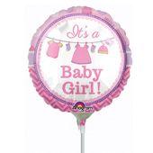 Mini fóliový balón It's a baby girl