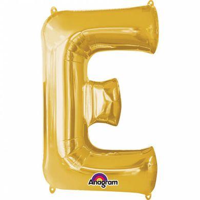 """Fóliový balón """"E"""" zlatý"""