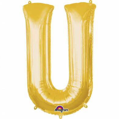 """Fóliový balón """"U"""" zlatý"""