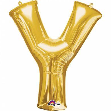"""Fóliový balón """"Y"""" zlatý"""