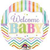 Mini fóliový balón Welcome Baby