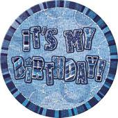 Odznak It's my birthday modrý