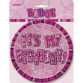 Odznak It´s my Birthday pink