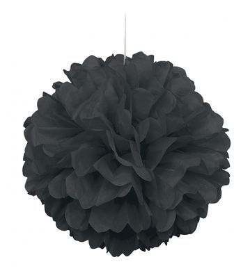 Pompónová guľa čierna