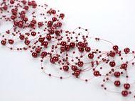 Perleťové girlandy červené