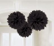 Pompónové gule čierne