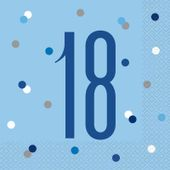 Servítky Birthday ´´18´´ Blue