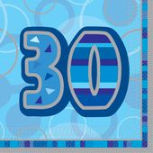 Servítky Birthday ´´30´´ Blue