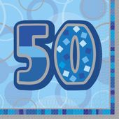 Servítky Birthday ´´50´´ Blue
