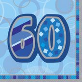 Servítky Birthday ´´60´´ Blue