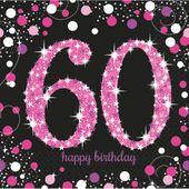 """Servítky """"60"""" Pink Diamonds"""