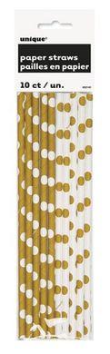 Slamky papierové zlaté bodky