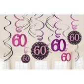 Visiace špirály 60 Pink Diamonds