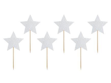 Zápichy na cupcakes Unicorn Stars