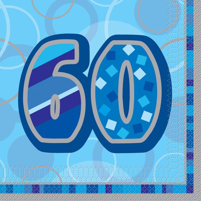 Unique Servítky 60.narodeniny modré 33x33cm 16ks