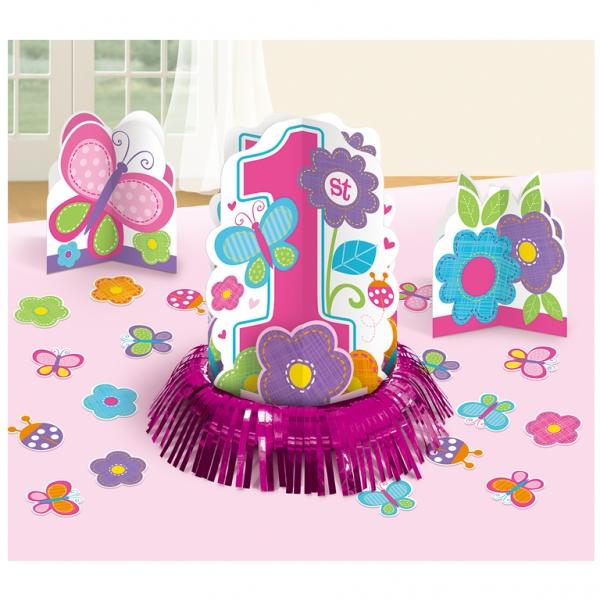 Amscan Stolová dekorácia 1.narodeniny B-day Girl
