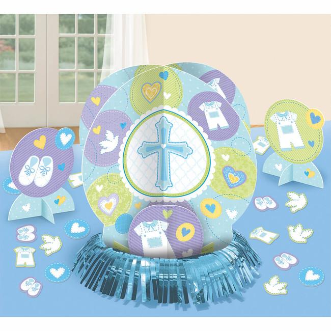 Amscan Stolové dekorácie Modrý krížik