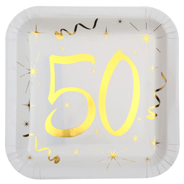 Santex Tanierik 50 narodeniny Gold 23cm 10ks