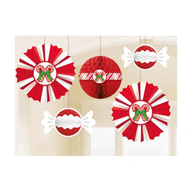 Amscan Visiace dekorácie Vianočné 5ks